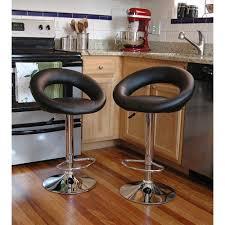 bar stool table set of 2 amerihome adjustable height black swivel cushioned bar stool set of