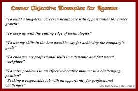 resume samples career objective career objectives resume