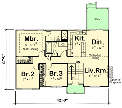 bi level floor plans split level house plan with open layout 62624dj architectural