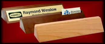 Wooden Desk Name Plates Award Plaques U0026 Desk Wedges