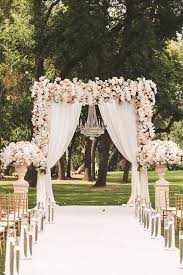 arch for wedding picture of stunning blush and ivory floral wedding arch