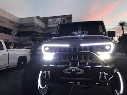 jeep grill decal oracle lighting vector series full led grill jeep wrangler jk