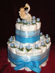 baby shower cake from diapers babyboydiapercakecenterpiece2 diaper
