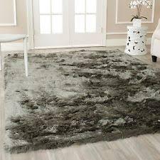 Silver Shag Rug Area Shag Rug Plush Indoor Safavieh Carpet 8 X 10 Foot Grey Silver
