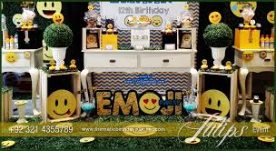 themed decorating ideas plan emoji birthday theme emoticon party ideas in pakistan