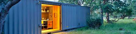 Wooden Interior Off Grid Shipping Container Cabin Has A Warm Wooden Interior