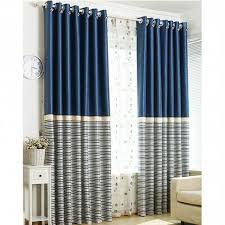 Navy Blue Striped Curtains Navy Blue White Modern Vertical Stripe Curtains Rod Pocket 84 In