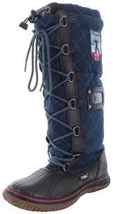 womens blue boots canada pajar garland s faux fur trim boots waterproof ebay