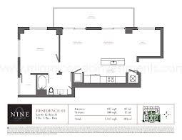 plan cuisine 11m2 nine at brickell floor plans and site plan