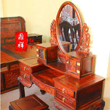 909 bedside korean garden style wood carved french style white