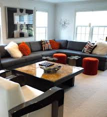 Sectional Sofa Pillows by Staggering Large Sectional Sofas Decorating Ideas For Family Room