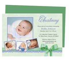 saint baby baptism invitations template available in green shown
