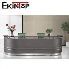 Black Reception Desk Black Office Wood Counter Office Front Counter Design Reception