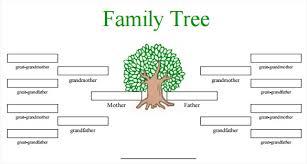 Free Editable Family Tree Templates Family Tree Template Free Family Tree Template