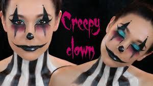 Halloween Makeup Step By Step Creepy Clown Face Paint Halloween Makeup Tutorial Youtube