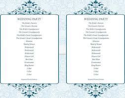 flat wedding programs wedding program templates free premium templates