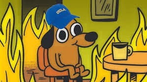 Fire Meme - ucla cancelled classes due to skirball fire traffic students remain