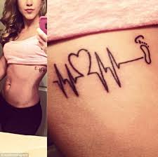 25 bästa heart monitor tattoo idéerna på pinterest