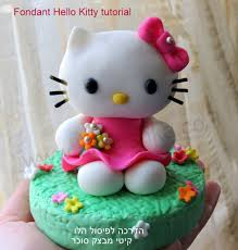 Cake Decorating Figures How To Make Diy How To Do Fondant Hello Kitty Fondant Kitty Tutorial Youtube