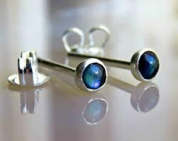 mens earring mens earring single anchor earring for men sterling silver