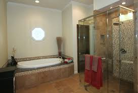 drop in bathtub ideas interior design and bathroom remodel rectangle bathtub with steel rain head shower on brown tiles wall and bathroom shower ideas bathroom