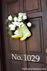 whimsical spring forsythia wreath jenna burger super cute diy spring door decor rain boot front doors and wreaths