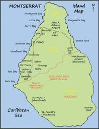 Caribbean Maps by Montserrat Island Map British West Indies Montserrat