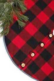 plaid tree skirt christmas tree skirt pendleton buffalo check wool tree skirts