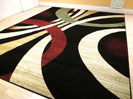 contempory area rugs magnificent dark black with yellow pattren rugs for