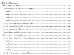 create table of contents in word insert table of contents using outline levels in word 2010
