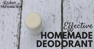 how to make homemade natural deodorant a recipe