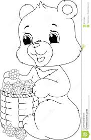 bear coloring page stock images image 37243364