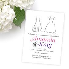 wedding invitations orlando sle lgbt wedding invitations wedding dress invitations by r2