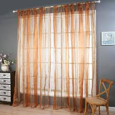 2016 curtains striped rose blue brown green tulle curtains for
