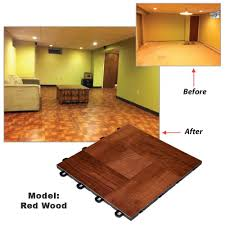 interlocking basement floor tiles wood vinyl top flooring made