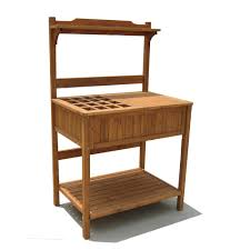 products wood potting bench with recessed storage