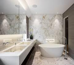 backlit bathroom mirror powder room contemporary with