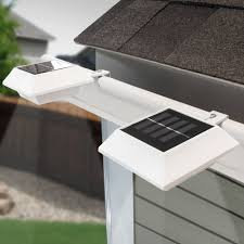 solar lights touch of eco solar gutter light 2 pack walmart