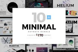 minimal keynote bundle template presentation templates
