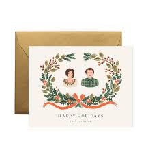 holiday greens personalized greetings by rifle paper co made in usa