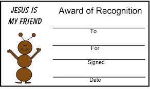 free printable bible award certificates