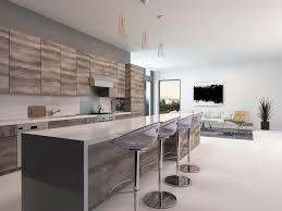 table haute ilot central 52 idées design de tabouret de cuisine pour aménager un bar ou un