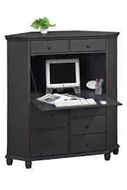 Corner Computer Armoire Harwick Corner Computer Armoire Black Home Kitchen