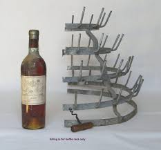 vintage french metal bottle drying rack herisson from