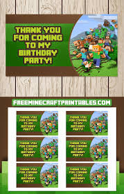 free minecraft printables free printable minecraft goody bag tags