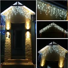 battery operated icicle christmas lights furniture led christmas lights blue icicle outdoor lights 6496 b