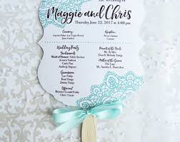fan shaped wedding programs shaped program etsy