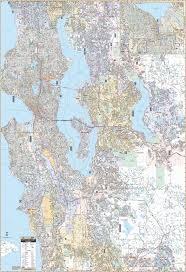 seattle map wall seattle wa wall map kappa map