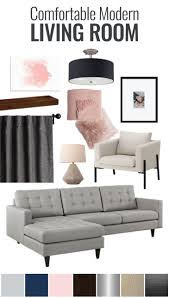 comfortable modern living room mood board kid friendly home decor modern doesn t have to mean bare and cold check out this comfortable modern