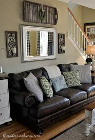 The Endearing Home Family Room Updates Ideas For The House - Living room decor with black leather sofa